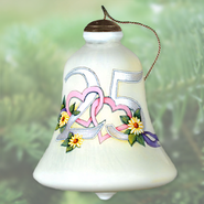 Happy 25th Anniversary Neqwa Bell Shaped Ornament  -     By: Susan Winget