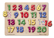 Numbers Sound Puzzle, Spanish  -