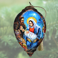 Holy Night Nativity Neqwa Ornament  -     By: Steward Sherwood