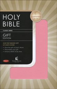 NKJV Gift & Award Bible, Imitation Leather, Pink     -