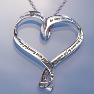 The Best and Most Beautiful Things Heart Necklace   -     By: Helen Keller