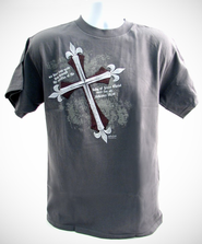 Jesus Made the Ultimate Sacrifice Shirt, Gray, Large  -