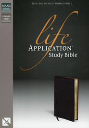 NAS Life Application Study Bible, Bonded leather, Black   -