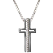 Courage Trinity Cross Pendant  -