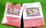 God Saw All He Made Burp Cloth, Pink   -