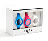 Euro Watch Set, Blue, Pink, White, Large  -