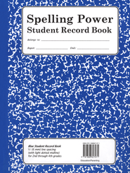 Spelling Power Blue Student Record Book, Grades 2-4   -              By: Beverly L. Adams-Gordon