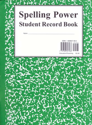 Spelling Power: Green Student Record Book   -     By: Beverly L. Adams-Gordon