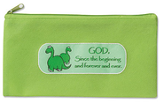 God Since the Beginning Zippered Pencil Case   -
