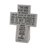 The Lord is My Rock Desktop Cross  -