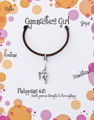 Gymnastics Necklace, Philippians 4:13  -