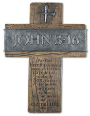 John 3:16 Wall Cross, Large  -