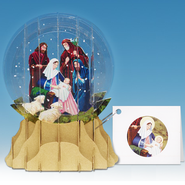 Pop-Up Snow Globe Greeting, Nativity   -
