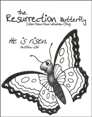 The Resurrection Butterfly Color-On Window Cling  -