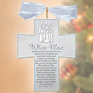 Nativity Silver Crosses, Wisemen  -