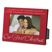 Our First Christmas Red Metal Photo Frame  -