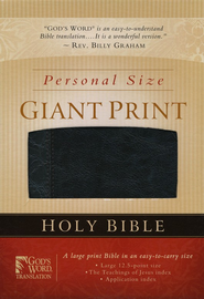 GOD'S WORD Personal Size Giant Print Bible, Duravella, black  -