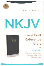 NKJV Personal Reference, Giant Print, Bonded Black  - Imperfectly Imprinted Bibles  -