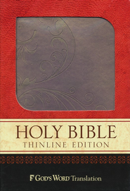God's Word Thinline Bible, Imitation leather, purple shimmer, vine design  -