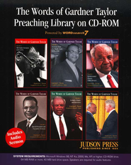 The Words of Gardner Taylor Preaching Library on CD-ROM  -     By: Gardner C. Taylor