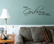 Vinyl Wall Expression, With God All Things are Possible  -