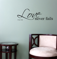 Vinyl Wall Expression, Love Never Fails  -