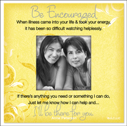 There For You, Be Encouraged Magnet  -     By: Anne Peterson