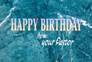 Happy Birthday from Your Pastor Postcard (Package of 25)  -