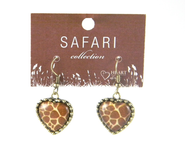 Giraffe Heart Earrings  -