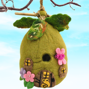 Felt Birdhouse Forest Flowers, Fair Trade Product  -