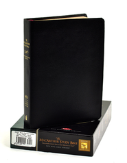 NKJV MacArthur Study Bible - Revised & Updated  Black Genuine Leather  -              By: John MacArthur