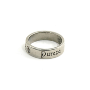 Pewter Language of Love Ring, Size 12  -