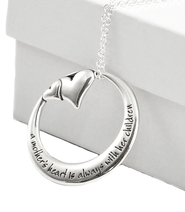A Mother's Heart is Always With Her Children Pendant  -