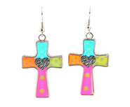 Heart Cross Earrings, Dana Designs  -