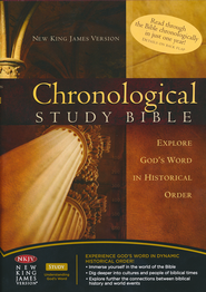 The NKJV Chronological Study Bible Hardcover - Slightly Imperfect  -