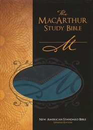 NASB MacArthur Study Bible, Revised and updated, Imitation leather, black/aqua  -              By: John MacArthur