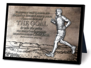 The Goal Runner Sculpture Plaque  -