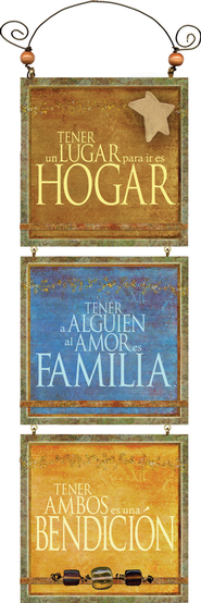 Hogar, Familia, Amor, Placa  (Home, Family, Love, Plaque)  -