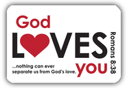 God Loves You Magnet, White  -