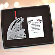 Glory to the Newborn King Pewter Ornament   -