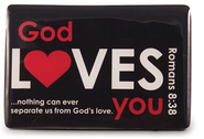God Loves You Magnet, Black  -