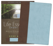 HCSB Life Essentials Study Bible, Simulated Leather Thumb Indexed Brown/Blue  -
