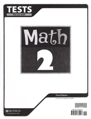 BJU Math Grade 2 Tests, Third Edition   -