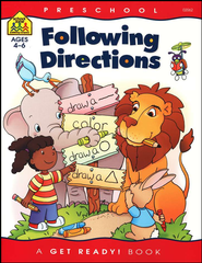 General Learning-Following Directions, Preschool Get Ready Workbooks  -