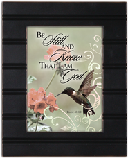 Be Still and Know That I Am God Framed Plaque  -