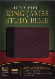 The King James Study Bible - LeatherSoft/Black/Burgundy - Slightly Imperfect  -
