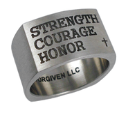 Strength, Courage, Honor Ring, Size 10  -