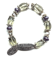 My Mother My Angel Bracelet, Amethyst  -