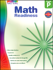 Spectrum Early Years Math Readiness  -