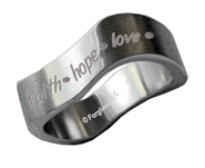 Faith, Hope, Love Ring, Size 8  -